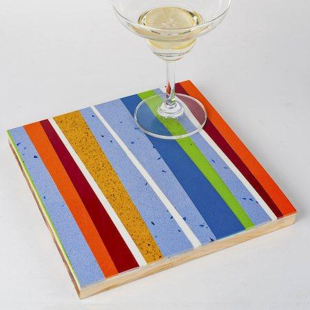 Amalgam Hand-crafted Diagonally Yours Stone Coasters - set of 4