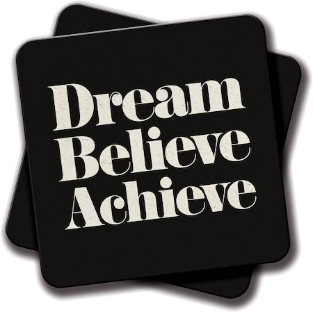 Amey Dream, Believe, Achieve Coasters - set of 2
