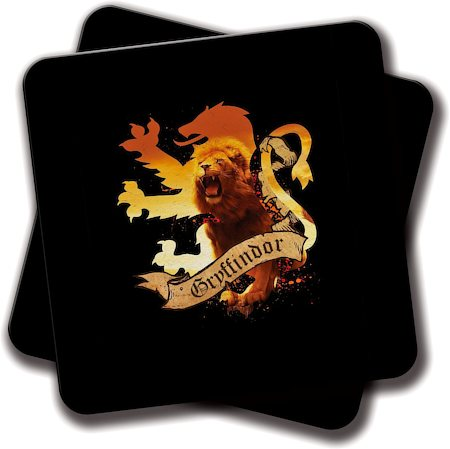 Amey Gryffindor Lion Ryffin HP Coasters - set of 2