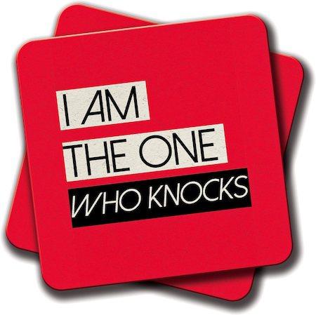 Amey I am the One Who Knocks Coasters - set of 2