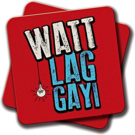 Amey Watt Lag Gayi Coasters - set of 2