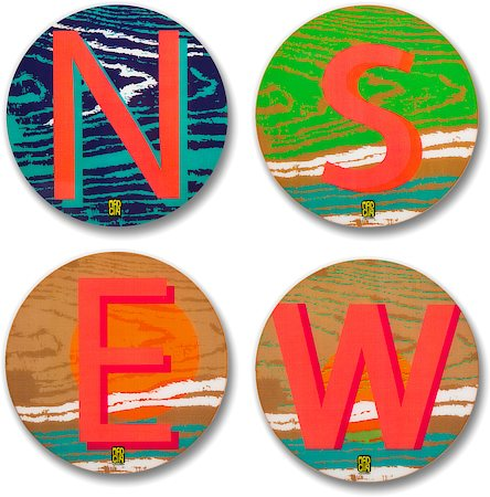 MadCap Wanderlust Cork Coasters - set of 4