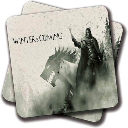 Amey Winter is GOT Coasters - set of 2