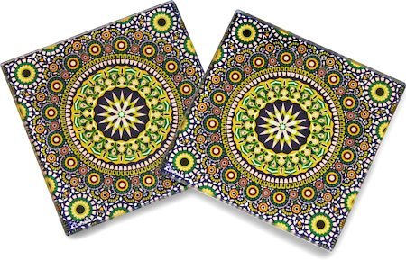 Kolorobia Wheeler Moroccan Glass Coasters - set of 4
