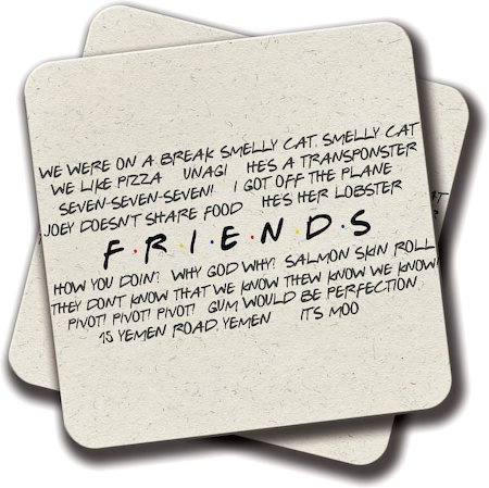 Amey Friends Quotes Coasters - set of 2