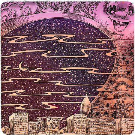 Posterboy Charbak Sky-Lid Opens Coasters - set of 4