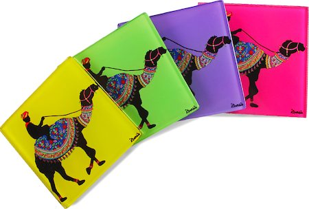 Kolorobia Creative Camel Wooden Coasters - set of 4