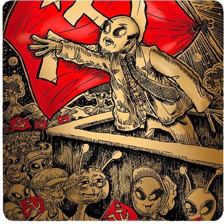 Posterboy Charbak Comrade Alien Coasters - set of 4