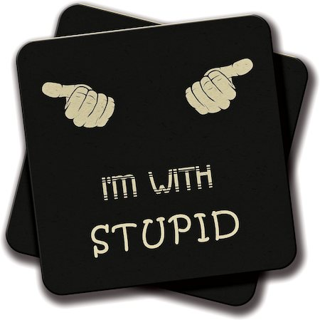 Amey With Stupid Coasters - set of 2