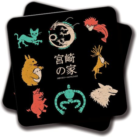 Amey House of Miyazaki Coasters - set of 2