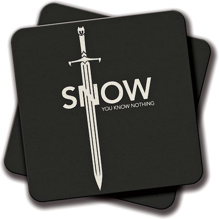 Amey Jon Snow Dark Know Nothing Coasters - set of 2