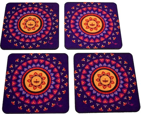 Twirly Tales Diya Series Coasters - set of 4