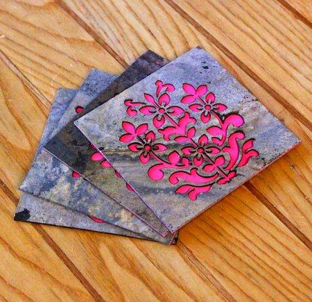 Amalgam The Blooming Performance Coasters (Pink) - set of 4