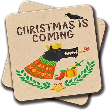 Amey Christmas is Coming Coasters - set of 2