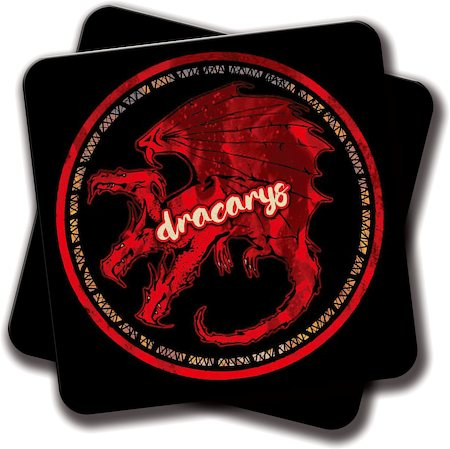 Amey Dracarys Coasters - set of 2