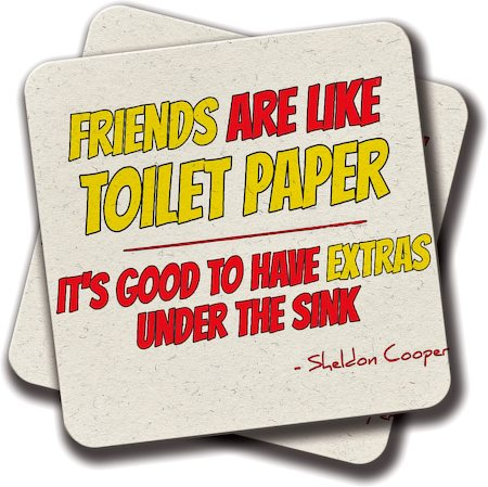 Amey Friends are Like Toilet Paper Coasters - set of 2