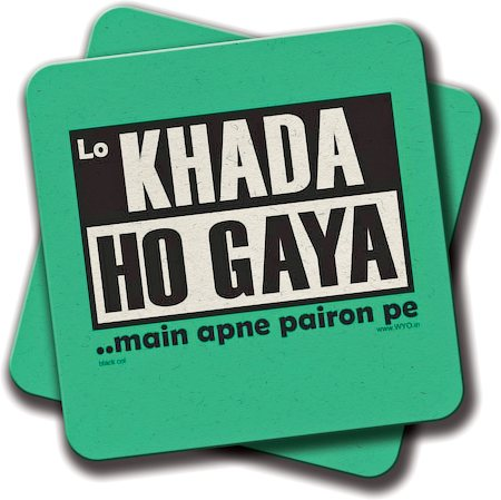 Amey Khada Ho Gaya Coasters - set of 2
