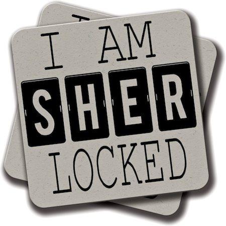 Amey Sherlock Coasters - set of 2