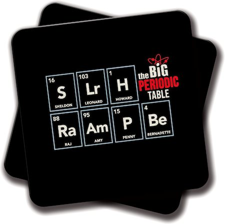 Amey The Periodic Table Coasters - set of 2