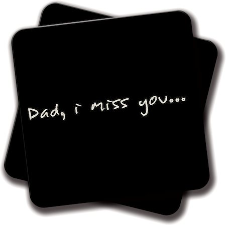 Amey Dad I Miss You Coasters - set of 2