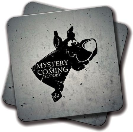 Amey Mystery is Coming Coasters - set of 2