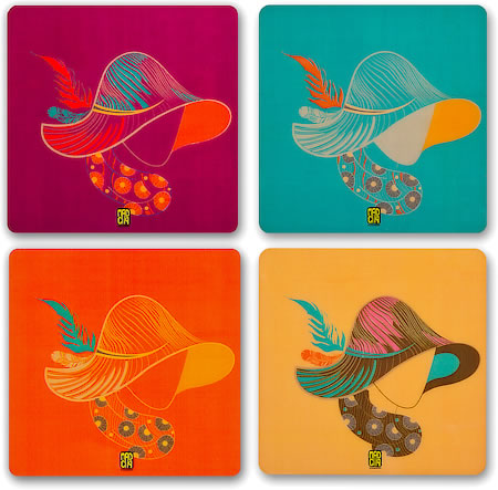 MadCap Bohemian Cork Coasters - set of 4