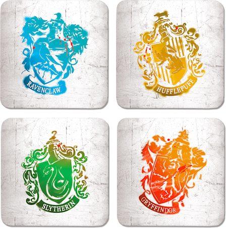 Warner Brothers Harry Potter School Crest Coasters - set of 4