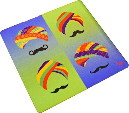 Twirly Tales Turban Series Trivets - set of 2
