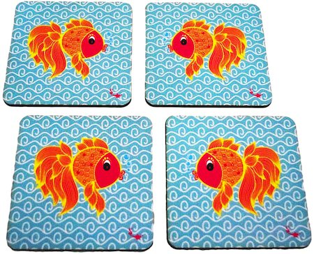 Twirly Tales Fish Series Coasters - set of 4