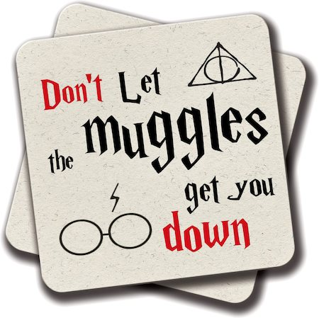 Amey Muggles Coasters - set of 2