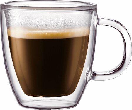 Bodum Bistro Double Wall Espresso Mug, Small 150 ml - set of 2