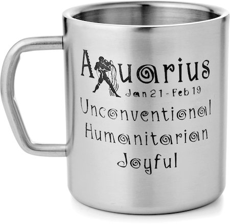 Mosaic Aquarius Zodiac Sign Mug