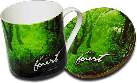 Hot Muggs Wild Focus Forests - Himachal Pradesh, Mug & Coaster - set of 4