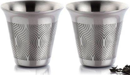 Arttdinox Seamless Taper Green Tea Cup - set of 2