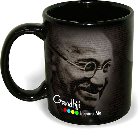 Hot Muggs Mahatma Gandhi - You Must Be the Change, Mug