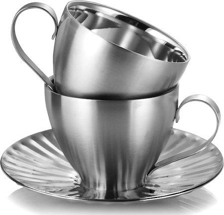 Arttdinox Mushroom Cup and Saucer - set of 2
