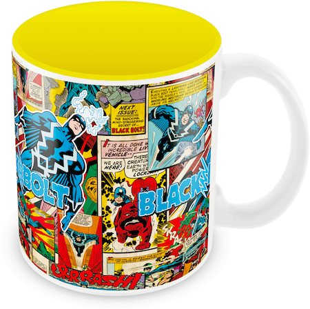 Marvel Comics Black Bolt Ceramic Mug