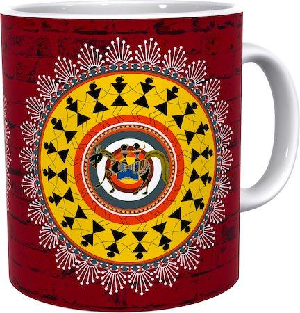 Kolorobia Rustic Warli Essence Classic White Mug
