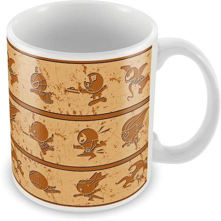 Marvel Kawaii - Brown Ceramic Mug
