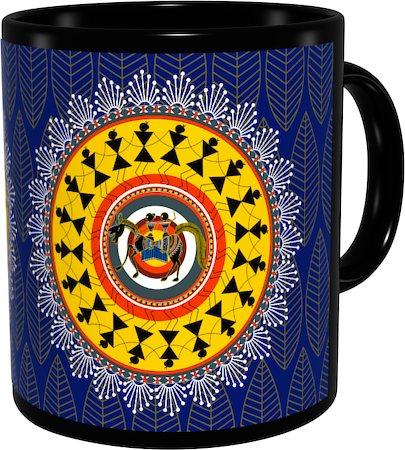 Kolorobia Ethnic Warli Classic Black Mug