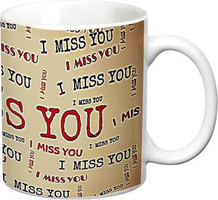 Prithish I Miss You White Mug