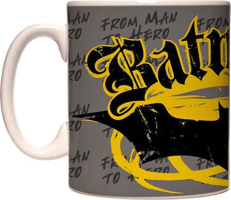 Warner Brothers Batman - From Man to Hero Mug