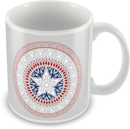 Marvel Captain America Logo Art New Ceramic Mug