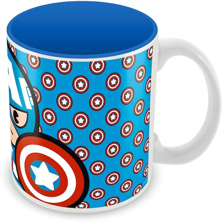 Marvel Captain America - Kawaii Art Ceramic Mug