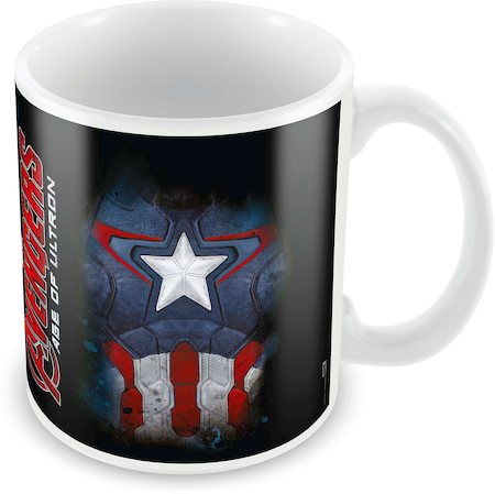Marvel Captain America Logo Ceramic Mug