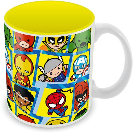 Marvel Characters Kawaii Ceramic Mug