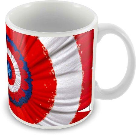 Marvel Captain America Design 75 Years Ceramic Mug