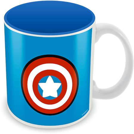 Marvel Kawaii - Captain America Logo Ceramic Mug