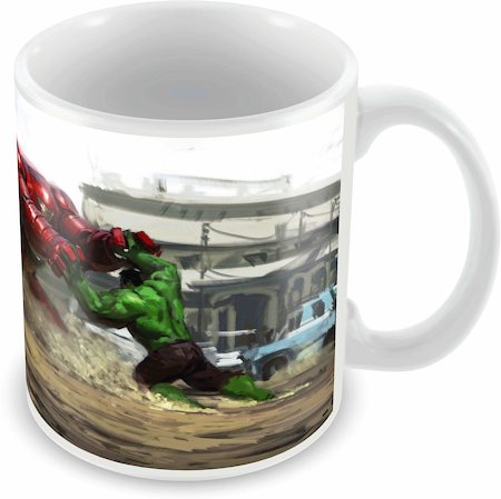 Marvel Hulk - Hulk Buster Fight Ceramic Mug
