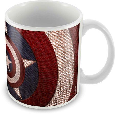 Marvel Logo Captain America Ceramic Mug